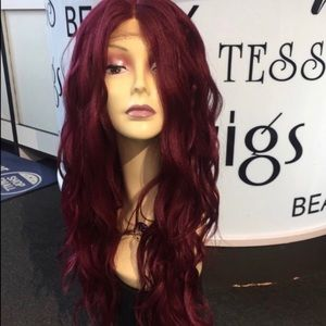 Accessories - Burgundy swisslace lacefront wig want 24 inch long